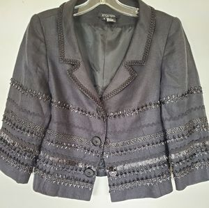 Etcetera Linen Embroidered Luxury Blazer Jacket 6